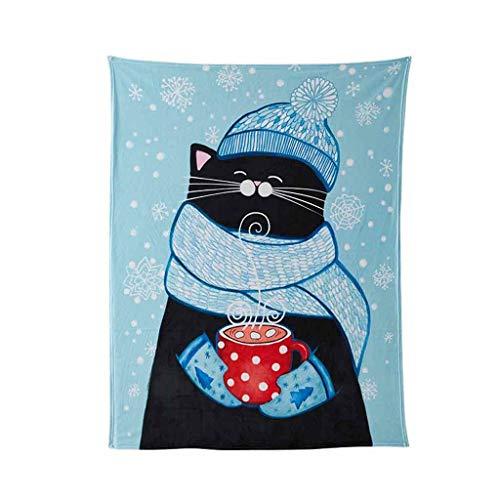 Decken, Katzen und Hunde Muster Decken, Nette Karikatur-Flanell Decken, Nordic Lässige Decken. (Color : D, Size : 120cm*150cm(500g))