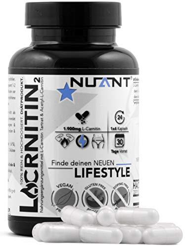L-CARNITIN | Bedeutend für deinen Energie- & Fettstoffwechsel. Mit Acetyl-L-Carnitin & L-Carnitin Tartrat | 120 Kapseln | 100% - REIN. | Deutsches Qualitätsprodukt für Diät Phasen.
