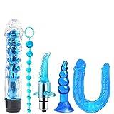LUCKY FAT MAN (5PC) Juego de Fiesta Azul, combinación de Masaje de músculos Profundos de jardín...