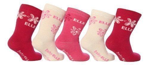 Elle - Chaussette - - À fleurs Bébé (fille) 0 à 24 mois Rose Rose - Rose - Rose, 0-3 mois
