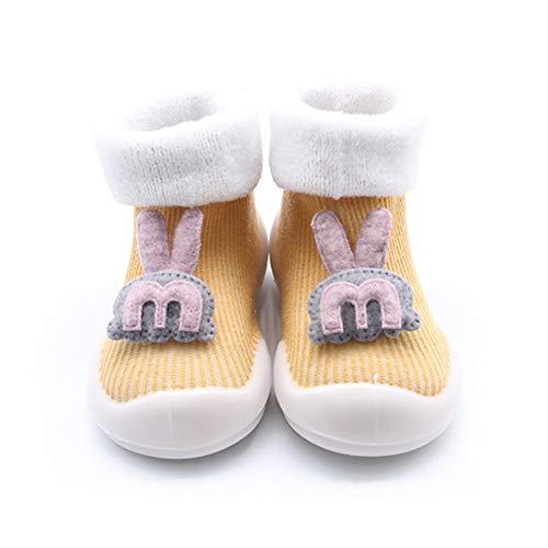 Bebé antideslizante botines recién nacido bebé suave punto invierno cálido cuna zapatos niño piso calcetines