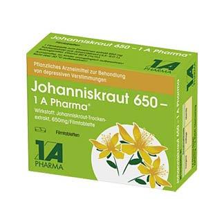 JOHANNISKRAUT 650 1A Pharma Filmtabletten 30 St Filmtabletten