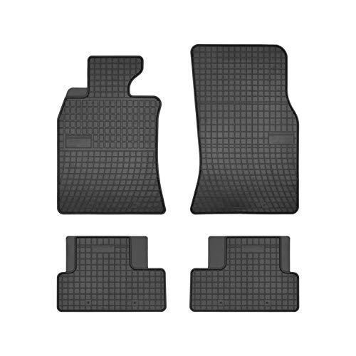 DBS 1765896 Tapis Auto en Caoutchouc - Sur Mesure - Tapis de sol pour Voiture - 4 Pièces - Caoutchouc Haute Qualité - Inodore - Antidérapant - Rebords Surélevés