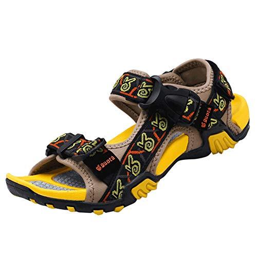 Männer Outdoor Leder Sandale magische Schnalle öffnen zehen Strandschuhe Outdoor weiche Flache Anti rutsch Schuhe im Sommer - Extra Breite Leder-sandalen