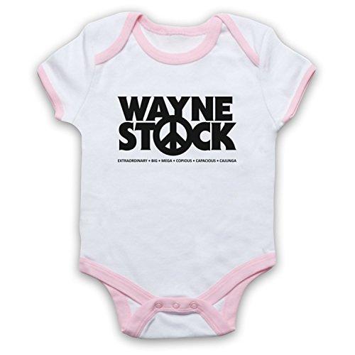 Inspiriert durch Waynes World 2 Waynestock Unofficial Babystrampler, Weis & Hellrosa, 6-12 Monate