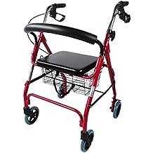 Mobiclinic Andador para Ancianos de 4 Ruedas | con Frenos en manetas | Altura Regulable |