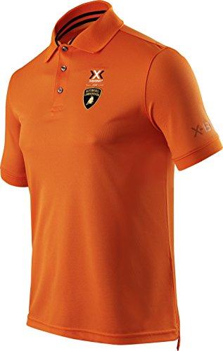 X-BIONIC for AUTOMOBILI LAMBORGHINI Herren Tech Style Pro Man Ow Short Sleeves Polo Shirt Orange