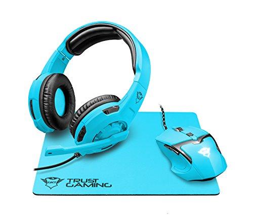 Trust Gaming GXT 790-SB Spectra - Pack Gaming 3 en 1: Auriculares,...