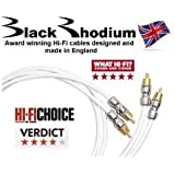 Black Rhodium Rhythm Cavo RCA-RCA Pair Argentato 3mt Made in UK