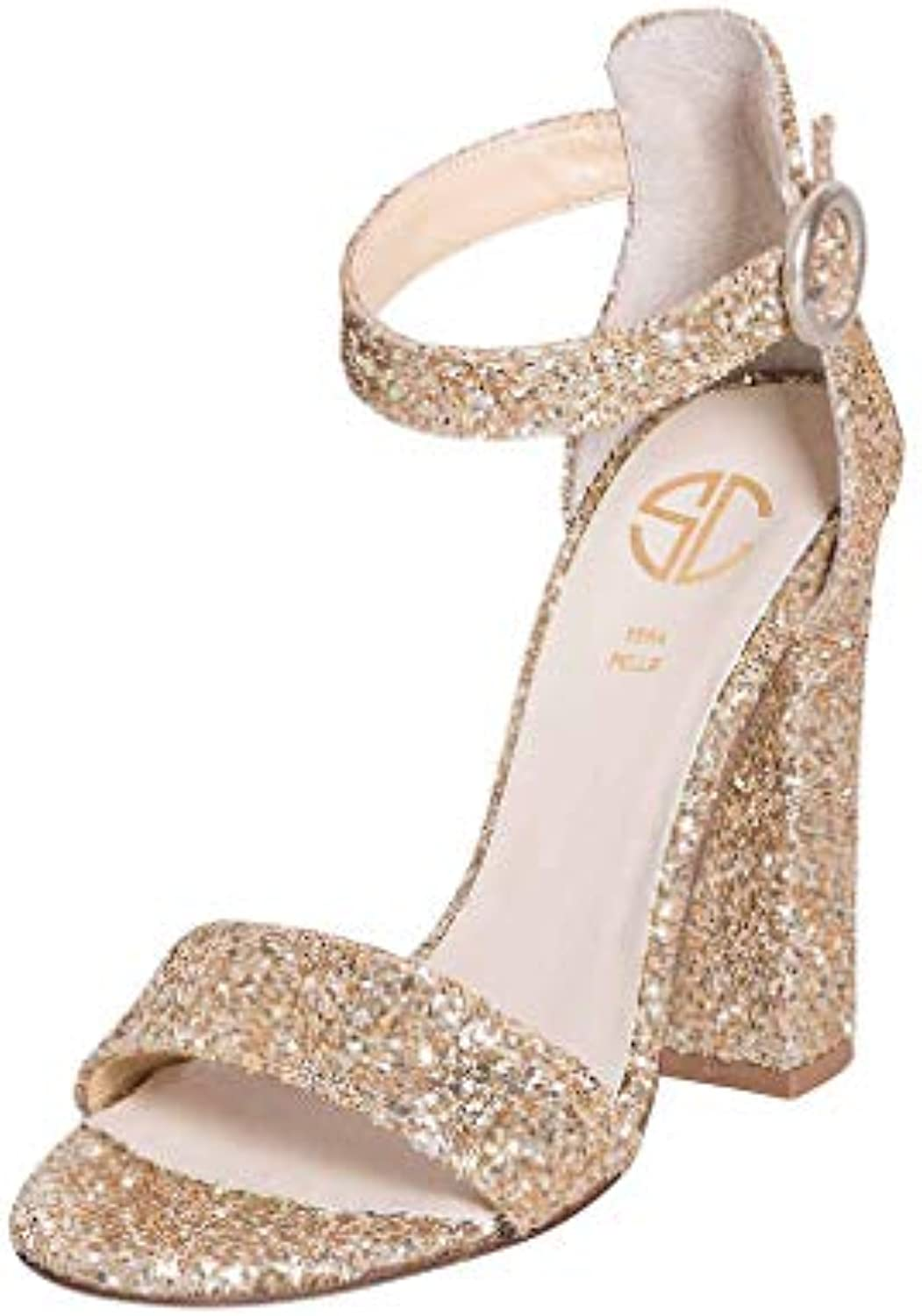 Sandalo with chunky heel Parent Parent Parent in strap glitter plate size chunky   af5dae