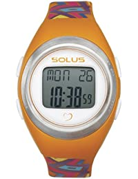 Solus Unisex Digital Watch with LCD Dial Digital Display and Orange Plastic or PU Strap SL-800-010