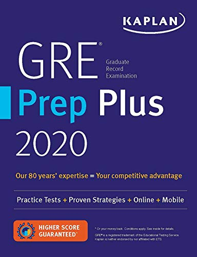 gre prep plus 2020: practice tests + proven strategies + online + mobile: 6 practice tests + proven strategies + online + video + mobile