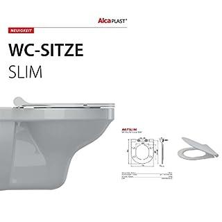 Hochwertiger Exclusiver Hochwertiger WC SITZ-WC Deckel-TOILETTENSTITZ-ALCA-SERIE :SLIM LINE A67SLIM-SOFT CLOSE-ABSENKAUTOMATIK-AWARD 2016-Aqua-Badshop®