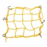 #9: Generic Yellow Bungee Motorcycle Helmet Cargo Net 6 Hooks Luggage Package Cargo Net Load Cover Cord Web