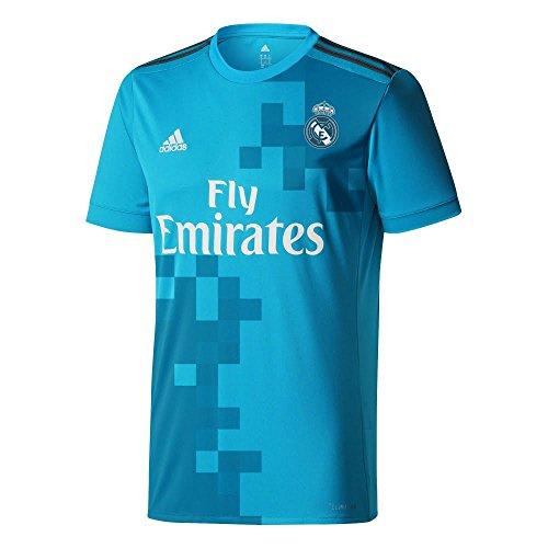 adidas Jsy y Camiseta 3ª Equipación Real Madrid 2017-2018, Niños, Azul (Azuint / Gripur / Blanco), 164