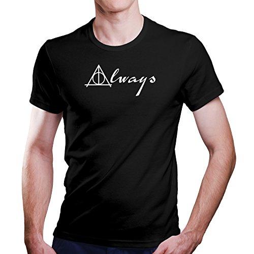 Harry Potter Serverus Snape Zitat Always T-Shirt Größe XS-4XL Ideales Geschenk (M, Schwarz)
