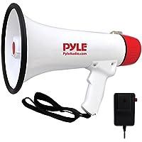Pyle PMP48IR Megáfono Profesional Recargable, Unisex, Blanco/Rojo