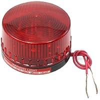 sourcingmap® Industrial CA 220V rojo Flash emergencia Luz estroboscópica Señal de seguridad que advierte la lámpara
