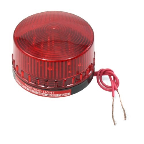 sourcingmap® AC 220 V Kunststoff Dome Gehäuse Industrieller Notfall Rotes Blinken der Kontrolllampe leuchtet (Rote Kontrolllampe)