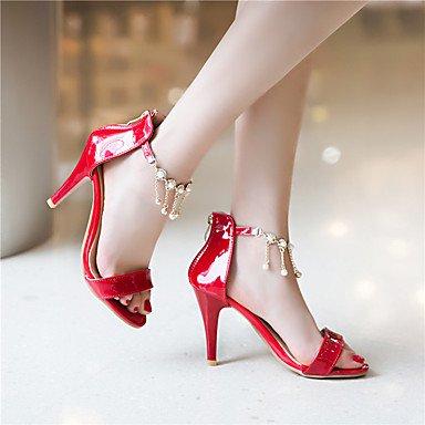 LvYuan Da donna-Sandali-Formale Casual-Altro-A stiletto-Finta pelle-Rosso Argento Dorato Silver