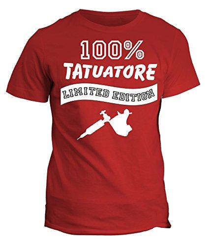 Tshirt 100% tatuatore Limited Edition - in cotone Rosso
