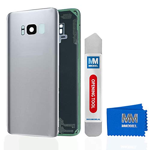MMOBIEL Backcover Akkudeckel Rück Klappe mit Linse kompatibel mit Samsung Galaxy S8 G950 5.8 Inch (Arctic Silver) - Unlocked Att Handys