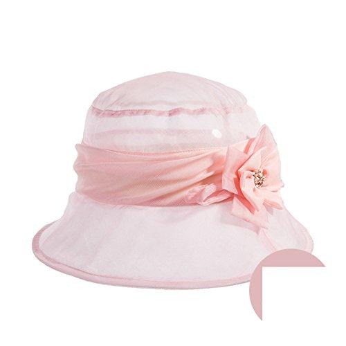 Chapeaux femmes/Chapeau de soie propre/Chapeau de soleil/Chapeaux de fête/Chapeau de soleil pliable C
