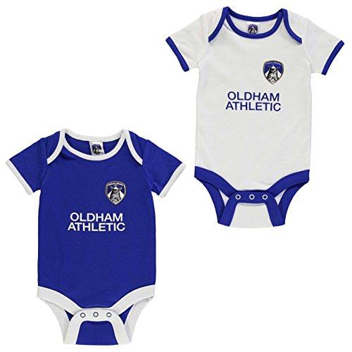 Team Kinder Baby Jungen Kurzarm Body Rundhals Baumwolle Fussball Fan 2er Pack Oldham 6-9 Mnth -