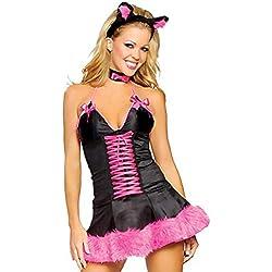 Disfraz de Gata Sexy Rosa TL8308