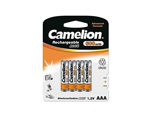 4 x Akku Batterie 1 x 4er Blister Camelion AAA 600mAh für Festnetz Telefon Siemens Gigaset SX550i , S67H , SX810 ISDN , A220 , AS285 , A510 Duo , S810 ,455X , CX610 ISDN , S79H C300 , A285 , S810H , A420 , C100 , SX440 ISDN , SX810 A , E500A , SX445 ISDN , C150 , A600 , 450X , C385 Duo , C610H , C595 , C610 , C300A Duo , C59H , A400 , C590 , Panasonic KX-PRW110 , KX-TG8561 , KX-TG6522 , KX-PRS110 , KX-TG6721 , Telekom T-Sinus 502 Dect , A205 , 501i , 300i , 103 , A404 , CA34 , A503i