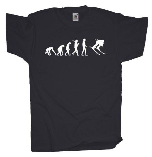 Ma2ca - Evolution - Skifahrer Ski T-Shirt Charcoal