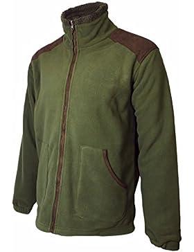 Uomo fagiano/ tinta unita sport all'aperto giacca in pile tiro caccia maglione