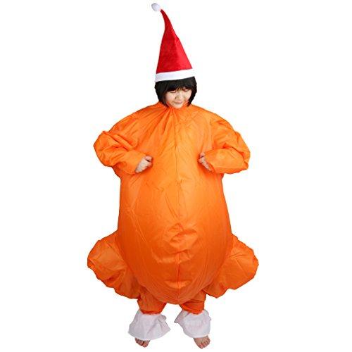 Blowup X-Mas Truthahn Anzug Kostüm Ganzanzug Suit Halloween (Aufblasbare Truthahn Kostüm)
