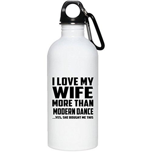 Designsify I Love My Wife More Than Modern Dance - Water Bottle Wasserflasche Edelstahl Isoliert Thermosflasche - Geschenk zum Geburtstag Jahrestag Muttertag Vatertag Ostern