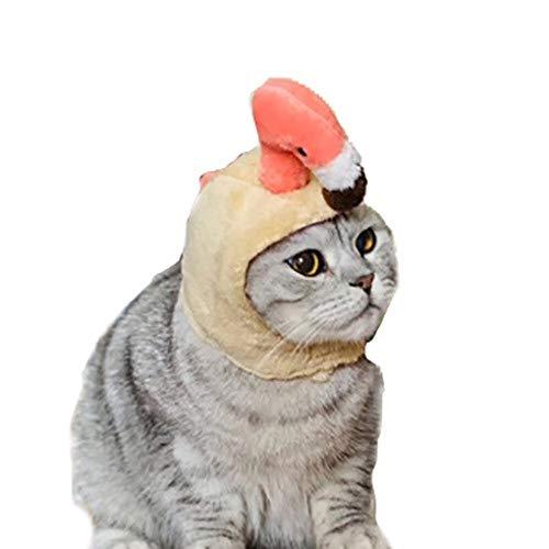 Kostüm Katze Kopfbedeckung - Haustiermütze, süße Hund, Katze, kreatives Design, Flamingo, Kopfbedeckung, Halloween, Weihnachten, Party, Kostüm, Geschenk für Hunde und Katzen