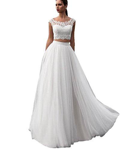 Brautkleid Zweiteiler mit Tüllrock