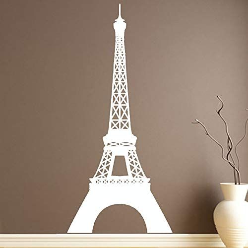 Abnehmbare Wahrzeichen Eiffelturm Wandaufkleber Paris Decals Wohnkultur Wandvinylkunst Wandtattoos Dekoration Neue Ankunft 43x95 cm