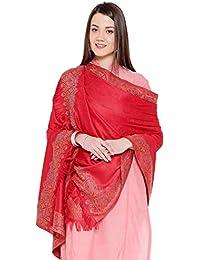 "Weavers Villa Women's Pashmina Wool Woven Soft Shawls, Wraps [Size: 40"" X 80""]"