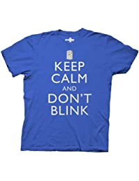 Dr. Doctor Who Keep Calm and Don't Blink Blau Erwachsene T-shirt Tee (Small)