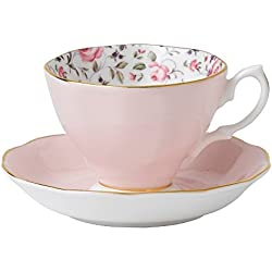 Royal Albert New Country Roses Confetti Teacup Vintage y Sauc