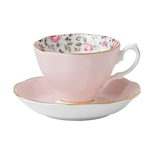 Royal Albert New Country Roses Confetti WeinleseTeacup und Sauc