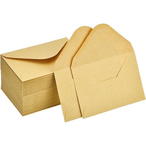 120 Stück Mini Kraft Umschläge Geschenkkarte Umschlag Hochzeit Party Visitenkarte Umschläge Kleine Teile Klassische Umschlag Umschläge, 4,4 x 3 Zoll (Visitenkarten-umschlag)