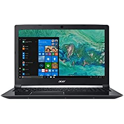 "Acer Aspire 7 A715-72G-75AN - Ordenador portátil DE 15.6"" Full HD (Intel Core i7-8750H, 8 GB RAM, 1000 GB HDD, 128 GB SSD, Nvidia GeForce GTX 1050, Windows 10 Home) Negro - Teclado QWERTY Español"