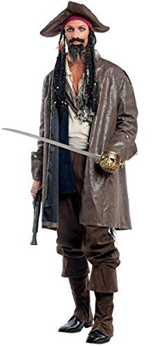 Costume di carnevale da capitan jack vestito per uomo adulti travestimento veneziano halloween cosplay festa party 4464 taglia l