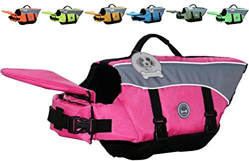Vivaglory Dog Life Jacket Adjustable Buckle Dog Safety Vest Pet Lifesaver Coat 1