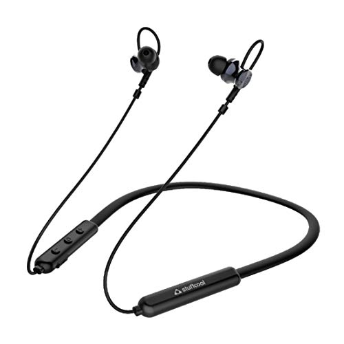 Stuffcool Monty Wireless Bluetooth 5.0 Headphone with Neckband in-Ear/Earphone with Mic and Controller - Black