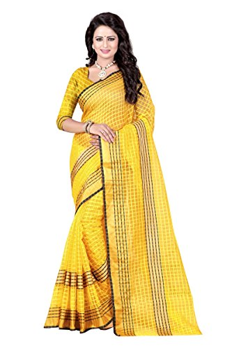 J B Fashion Women's Silk Saree With Blouse Piece (Sarees For Women-263_Yellow)