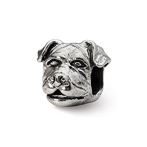 Sterling Silber Reflexionen Rottweiler Kopf Perlen -
