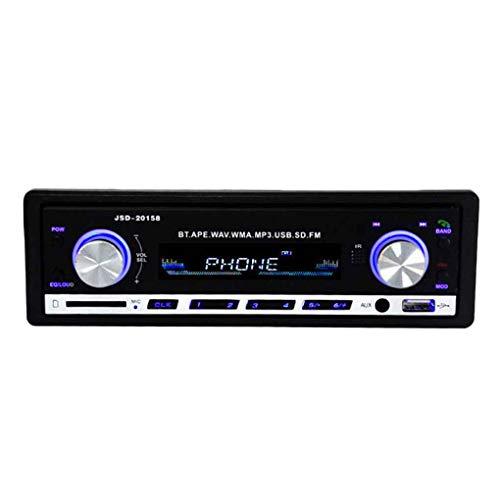 Floridivy 1 Lärm-Auto-In-Dash-Stereo 20158 Fahrzeug-MP3-Player Bluetooth SD USB FM Radio-Empfänger-AUX DC 12V
