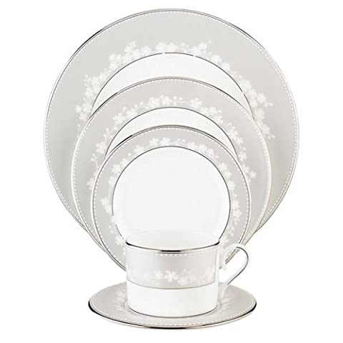 Lenox Bellina Bone China Platinum Banded 5-Piece Place Setting, Service for 1 by Lenox